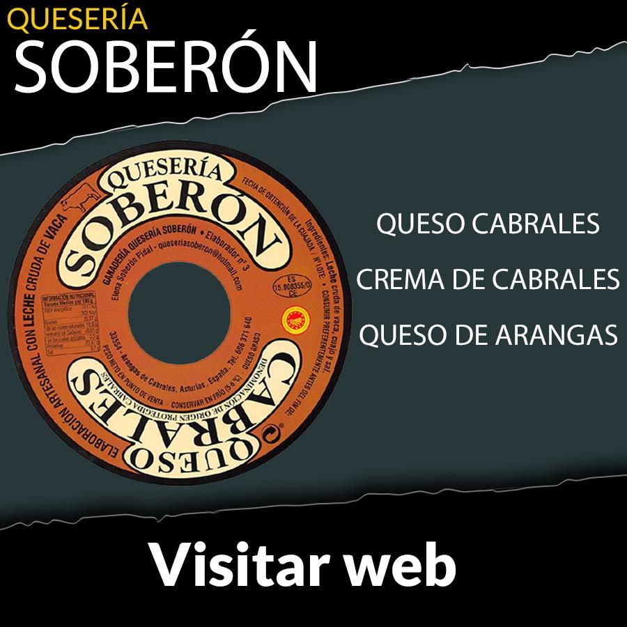 Web y tienda de la quesería Soberón