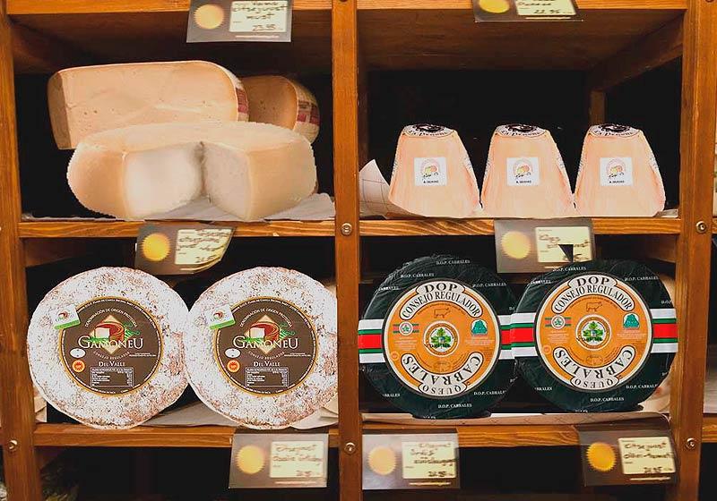 Tiendas de quesos asturianos