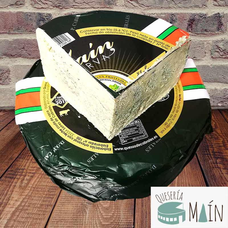 Precio cuña queso cabrales reserva quesería Maín
