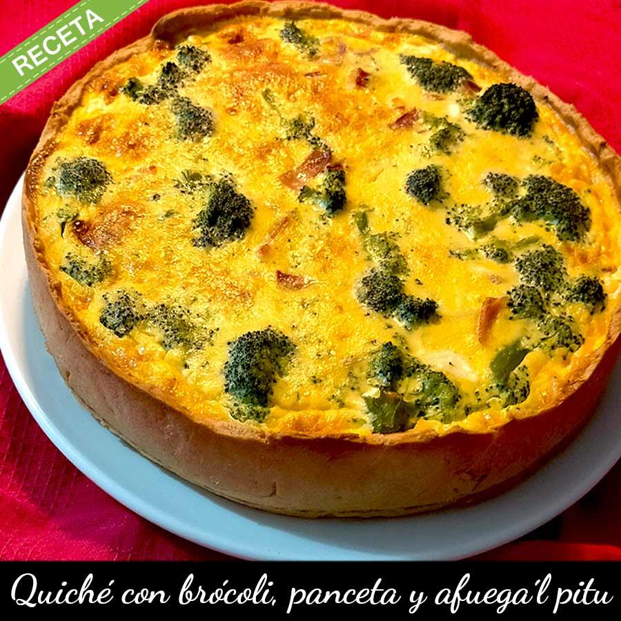 Receta de quiché de queso afuega´l pitu, brócoli y panceta